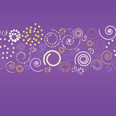 Abstract Banner With Spirals Royalty Free Stock Photo
