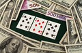 Free Playing Cards And Money Stock Photo - 8257110