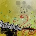 Free Floral Satellite Grunge Royalty Free Stock Image - 8259286