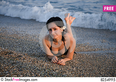 Free Girl On The Beach Royalty Free Stock Photo - 8254995
