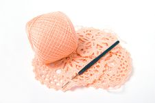Yarn Ball And Crochet Hook Royalty Free Stock Image