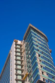 Finishing Works On Construction Building Stock Images