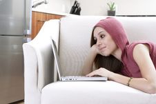 Free Relaxed Laptop User Royalty Free Stock Image - 8251026