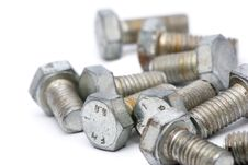 Metal Bolts Royalty Free Stock Photography