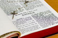 Free Rosary Bible Page - Exodus Stock Photo - 8252280