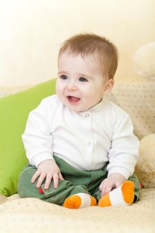 Free Portrait Of Adorable Blue-eyes Baby Royalty Free Stock Images - 8252589