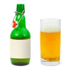 Free Bottle And Glass Of Beer Stock Images - 8252744