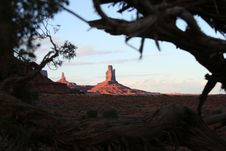 Monument Valley At Sunset Stock Photography
