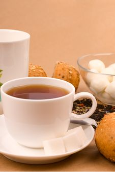 Free Cup Of Tea, Mozzarella And Bread Royalty Free Stock Photo - 8253275