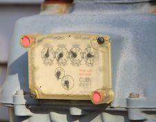 Free Gas Meter Royalty Free Stock Image - 8253316