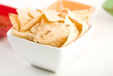 Free Tortilla Chipsa And Salsa Stock Images - 8253644