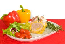 Free Chicken And Bacon Roulades Royalty Free Stock Photo - 8254055
