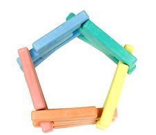 Free Pentagon From Childrens Colored Chalk Royalty Free Stock Photos - 8254198