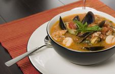 Free Bowl Of Seafood Soup Royalty Free Stock Photography - 8254467