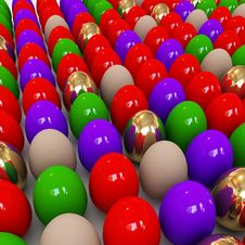 Free Colorful Easter Eggs Royalty Free Stock Photos - 8255118