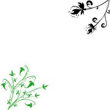 Free Black Green Spring Floral Background Stock Image - 8255701
