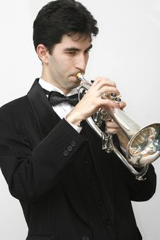 Free Trumpet Player Stock Photos - 8255803