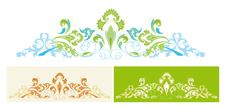 Free Set Of Abstract Design Floral Elements Royalty Free Stock Photography - 8256227