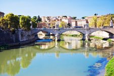 Free Bridge Ponte Vittorio Emanuele II Royalty Free Stock Photos - 8257068