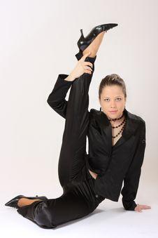 Flexible Woman Royalty Free Stock Photo