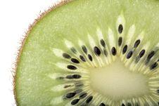 Free Section Of A Kiwi Fruit Slice Stock Image - 8257341