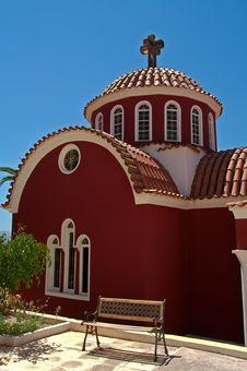 Free Church In Kaliviani Monastery Stock Image - 8257531