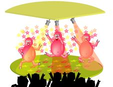 Free Dancing Party Pigs Stock Photo - 8257660
