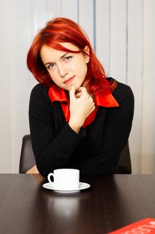Free Pensive Caucasian Businesswoman In The Office Stock Image - 8258091