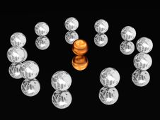 Free Silver Spheres Laid Out On A Circle. Stock Images - 8258344