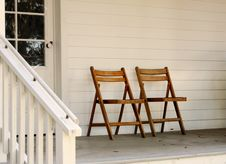 Free Chairs On A Porch Royalty Free Stock Image - 8258406