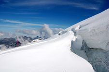 Mount Titlis Glacier Stock Photography