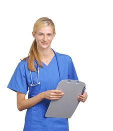 Free Nurse With A Chart Stock Image - 8259801
