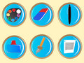 Free Paint Tool Icon Set Royalty Free Stock Images - 8262419