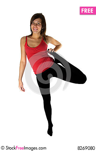 Free Young Woman Training Fitness Stock Photo - 8269080