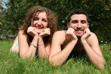 Free Romantic Couple Outdoors Stock Photos - 8260523
