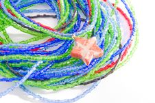 Free Colorful Bead Bracelet With Star Isolated Stock Images - 8260584