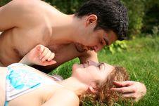 Free Romantic Couple Outdoors Stock Photo - 8260640