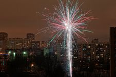 Free Fireworks In The City Royalty Free Stock Images - 8260869