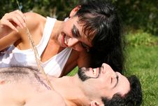 Free Romantic Couple Royalty Free Stock Image - 8261066