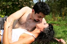 Free Couple Outdoors Stock Photography - 8261192