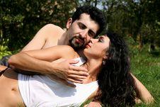 Free Romantic Couple Outdoors Stock Photos - 8261243