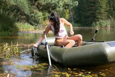 Free Girl In Boat Stock Images - 8261364