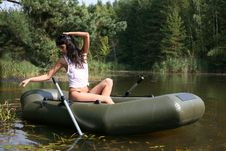 Free Girl In Boat Royalty Free Stock Photography - 8261437