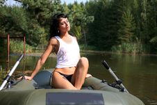Free Girl In Boat Stock Photography - 8261462