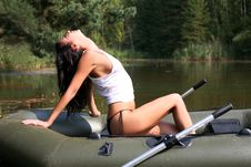 Free Girl In Boat Royalty Free Stock Photography - 8261487