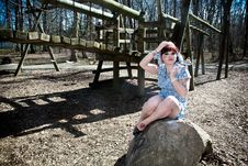 Girl At Playground Royalty Free Stock Images
