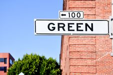 Free Green St Stock Image - 8261671