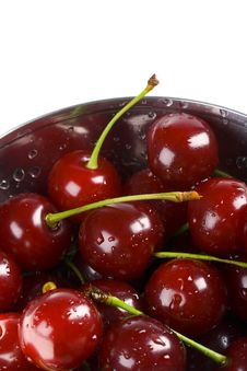 Free Cherry In A Bowl Royalty Free Stock Image - 8261726