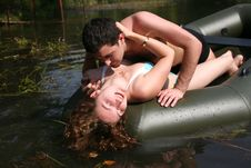 Free Couple In Boat Royalty Free Stock Photos - 8261758