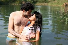 Free Couple In Water Stock Image - 8261811